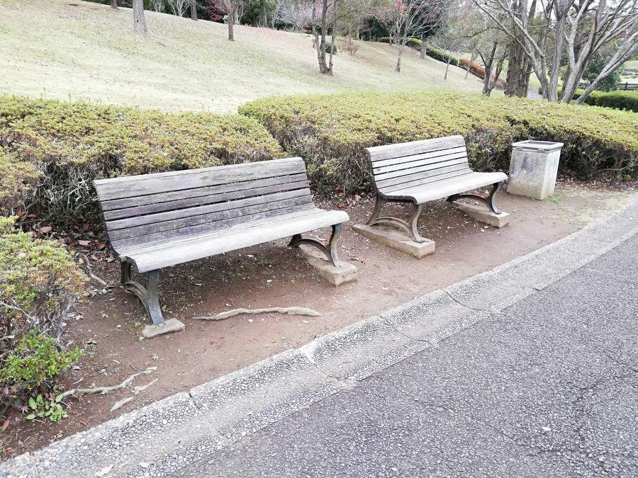 七井戸公園のベンチ