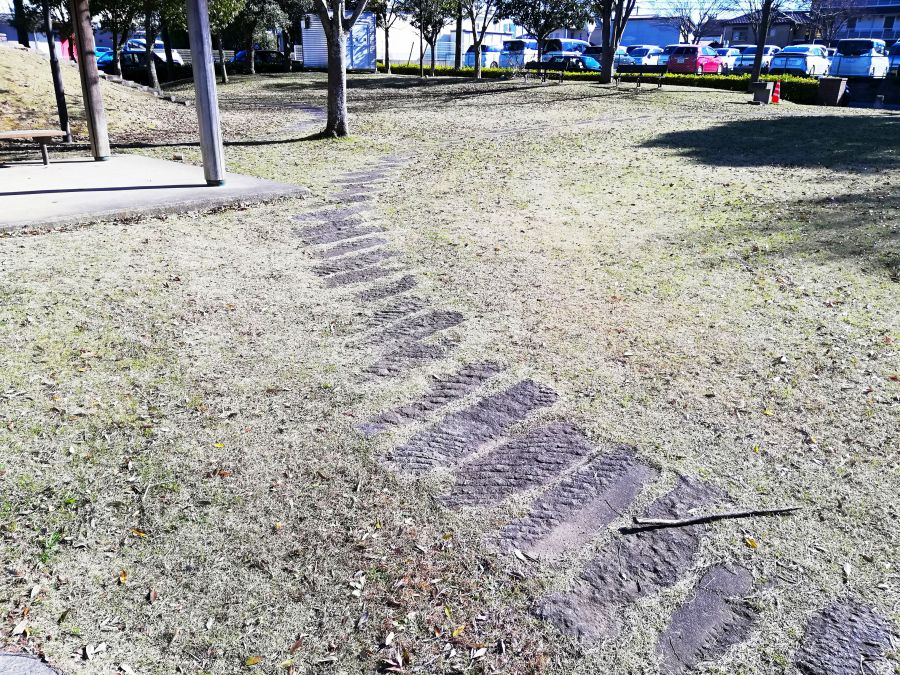 佐倉市 浅間前公園の石畳