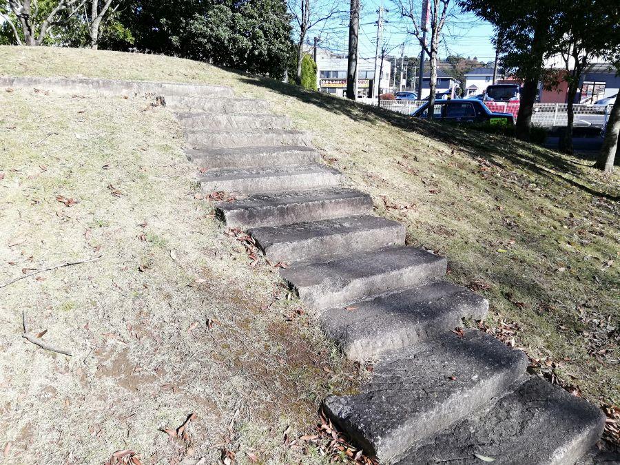 佐倉市 浅間前公園の丘の階段