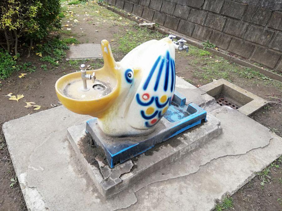 長谷津児童公園の水道