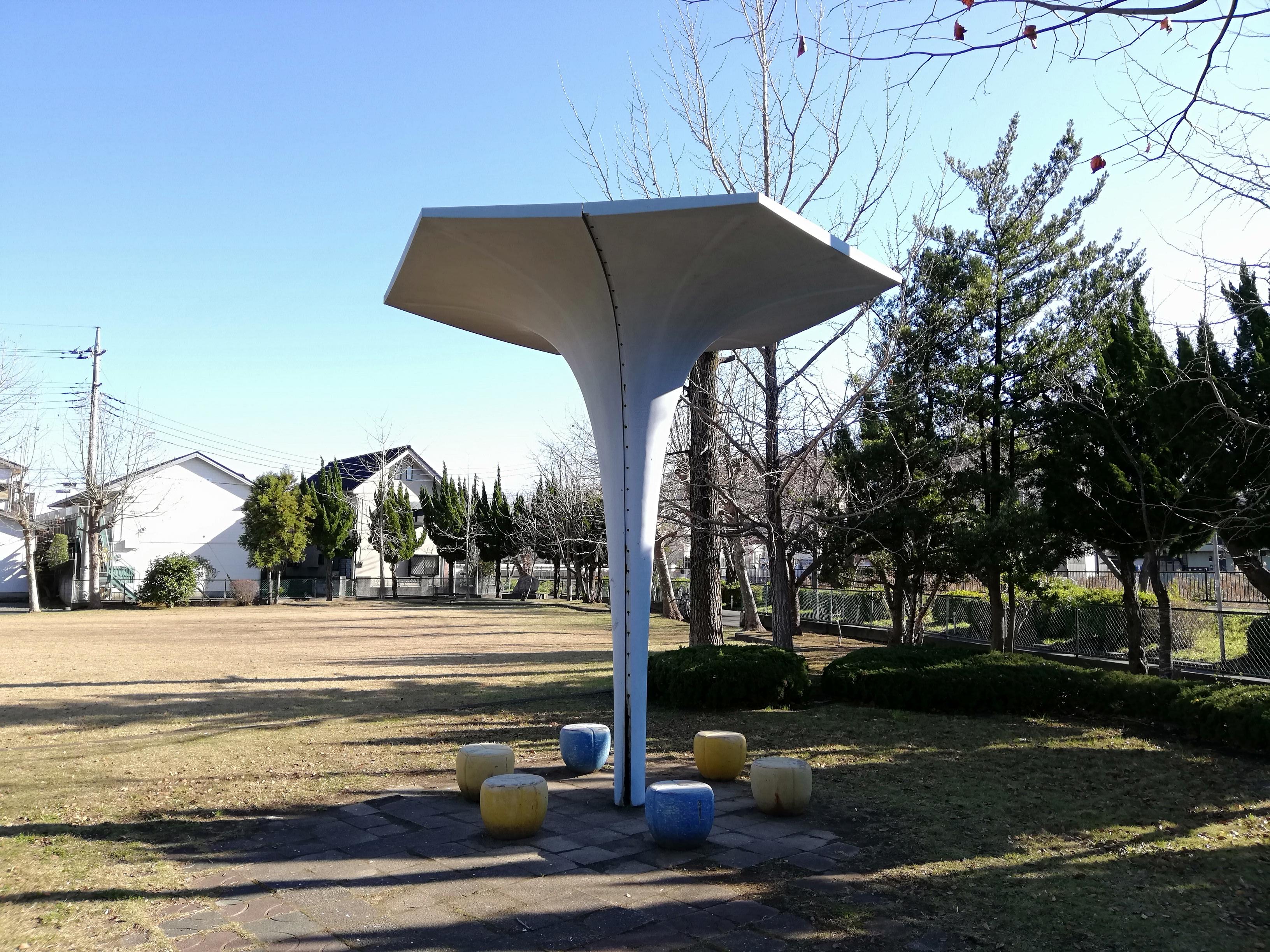 佐倉市 小沼児童公園のベンチ