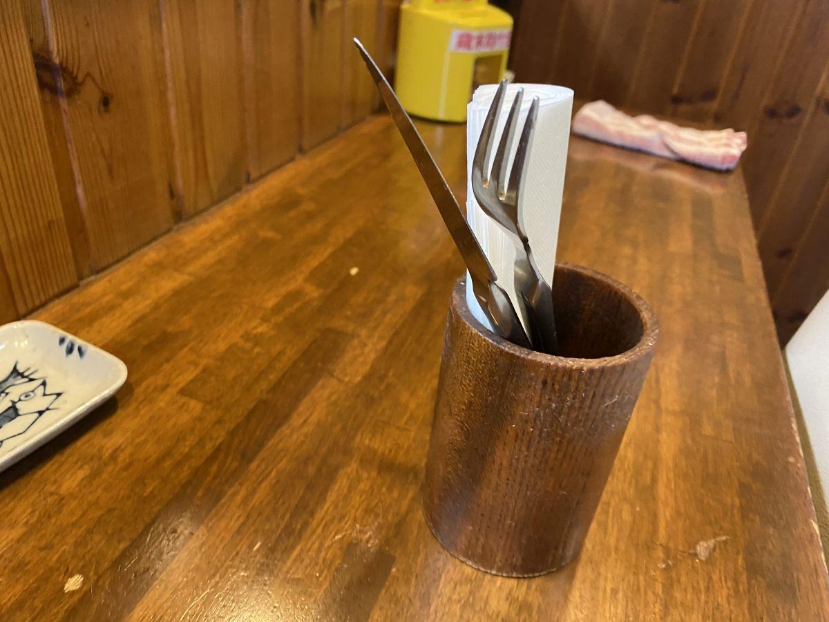 クランペット フォークナイフ