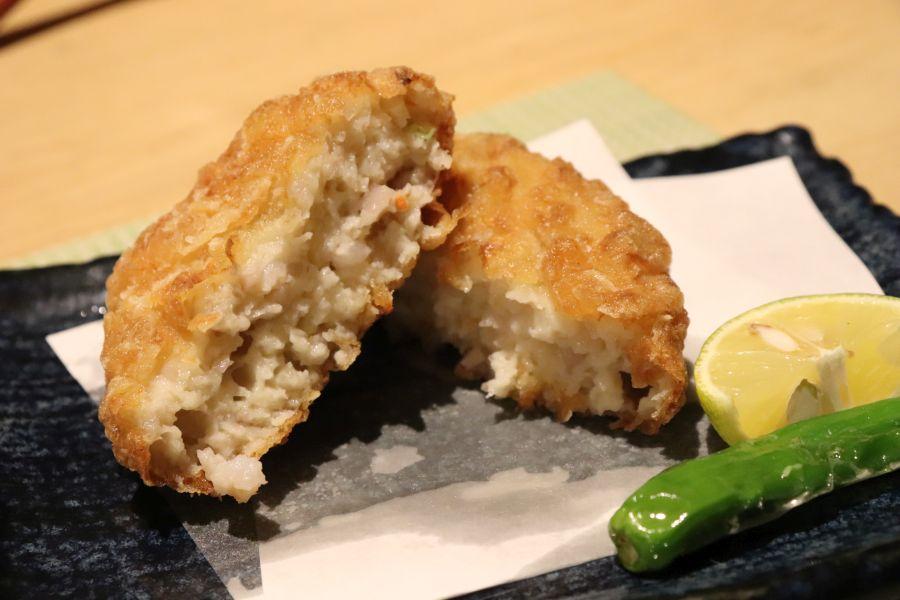 佐倉市 風流 料理 佐倉旬野菜の真薯揚げ