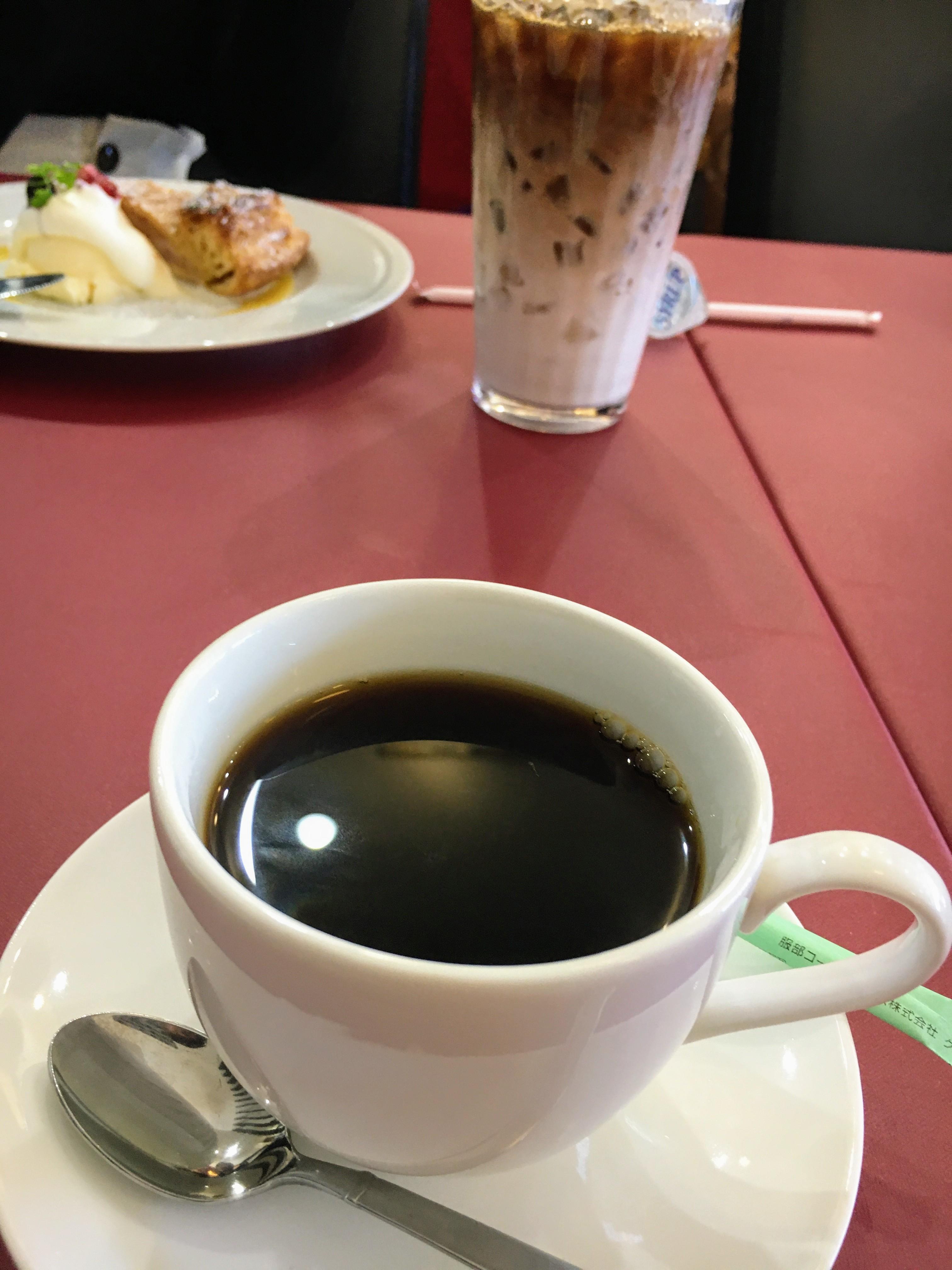 沙久良 コーヒーとアイスカフェオレ