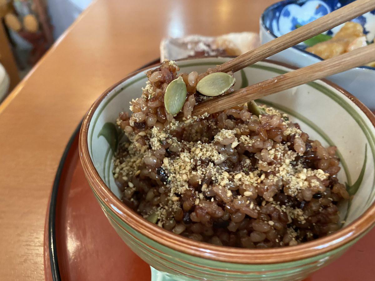 喫茶まめ 発酵玄米実食