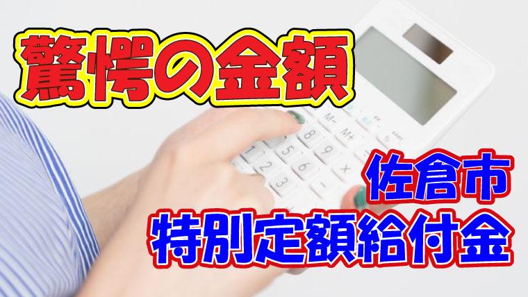2020年7月28日 佐倉市 特別定額給付金 給付合計170億円越え