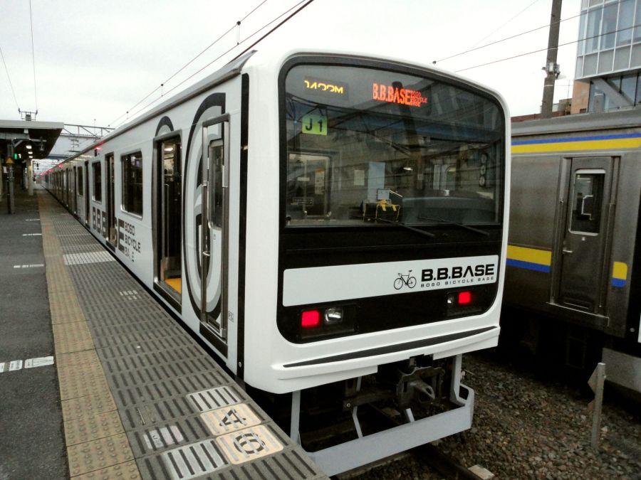 2020年10月 サイクリング列車 B.BBASE 佐倉駅 定期運航開始 列車外観