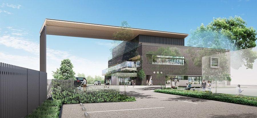 2020年11月から 佐倉市図書館 建て替え工事開始 外観予定