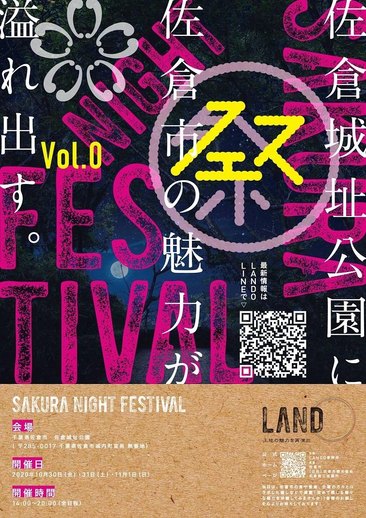2020年10月30日.31日.11月1日開催 ランドサクラ 佐倉城址公園 ポスター