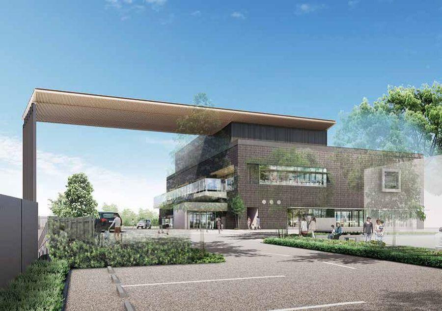 佐倉図書館等新町活性化複合施設(仮称) 建物構想