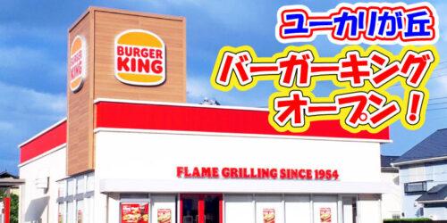 【新規オープン】佐倉市ユーカリが丘に造っていた『バーガーキング』7月29日開店!(ユーカリが丘駅/地区センター駅)